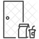 Door To Door Service Messenger Icon