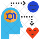 Dopamine Hormone Happy Icon