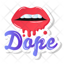 Dope Lips Icon