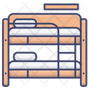 Dormitory Bed Icon