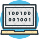 Dos Binary Code Icon
