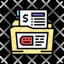 Dossier Allowance Dossier Finance File Icon