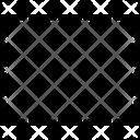 Rectangle Dot Dot Rectangle Broken Line Rectangle Icon