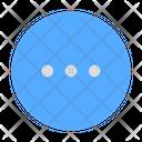 Dots Circle Dots Menu Icon