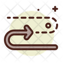 Dotted Arrow Way Right Way Icon