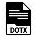 Dotx File Format Icon