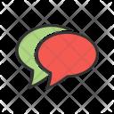 Double Message Bubble Icon