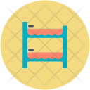 Double Bed Stairs Icon