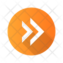Double Arrow Arrowhead Icon