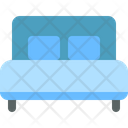 Double Bed Furniture Icon