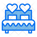 Double Bed Love Bed Bed Icon