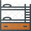 Bed Double Bunk Icon