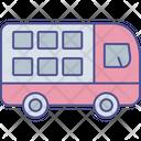 Double Decker Bus Huge Vehicle Mass Transport Icon