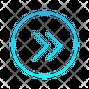 Double Chevron Right Zigzag Top Right Arrow Arrows Icon