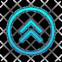 Double Chevron Up Zigzag Top Right Arrow Arrows Icon