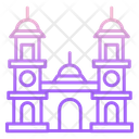 Double Clock Tower Icon