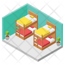 Double Deck Bed Icon