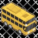Omnibus Double Decker Public Transport Icon