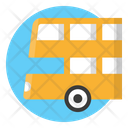 Double Decker Bus Transportation Icon