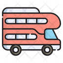 Double Decker Bus Transport Icon