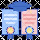 Double Degree Certificate Degree Icon
