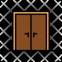 Double Wooden Door Icon