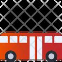 Double Door Bus Bus Vehicle Icon