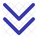 Double Down Arrow Direction Icon