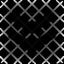 Double Down Arrows Icon