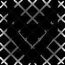 Double Down Arrow Correction Navigation Icon