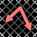 Double Down Arrows Directional Arrow Navigational Arrow Icon