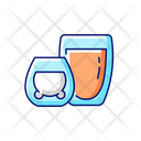 Double Glass Cups Icon