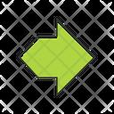 Double Green Arrow Icon