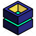 Hollow Stack Cut Icon