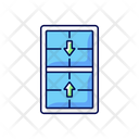 Double Sash Slide Icon