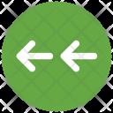 Double Left Arrow Icon