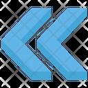 Double Left Arrow Left Replay Icon