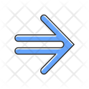 Double Lined Blue Arrow Icon