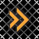 Double Orange Arrow Icon