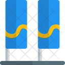 Double Pennant Banner Billboards Two Billboard Ads Icon