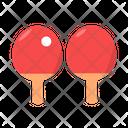Double Pingpong Table Tenis Pingpong Icon