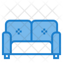 Double Sofa Sofa Couch Icon
