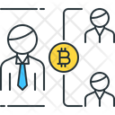 Double Spending Bitcoin Business Icon