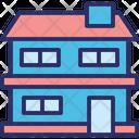 Double Story House Family House Multi Storey House Icon