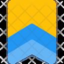 Double Stripe Badge Badge Award Icon