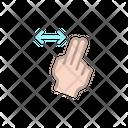 Double swipe Icon