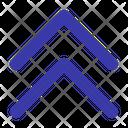Double Up Arrow Ui Icon