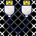 Double Usb Usb Usb Stick Icon
