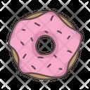 Doughnut Strawberry Treat Icon