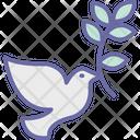 Dove Olive Peace Icon